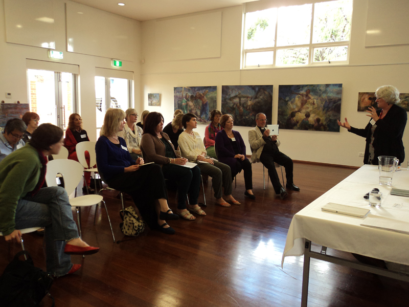 Angela at Swanbourne Artist Forum